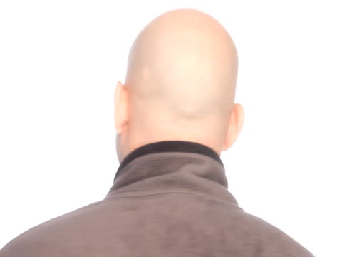 bald spinning head - completely bald stock videos & royalty-free footage