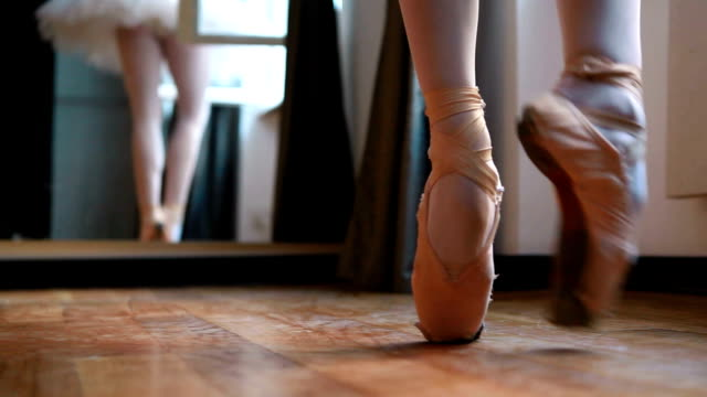 Balerina practicing ballet