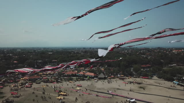 bali kite festival / bali, indonesia - annual event stock videos & royalty-free footage