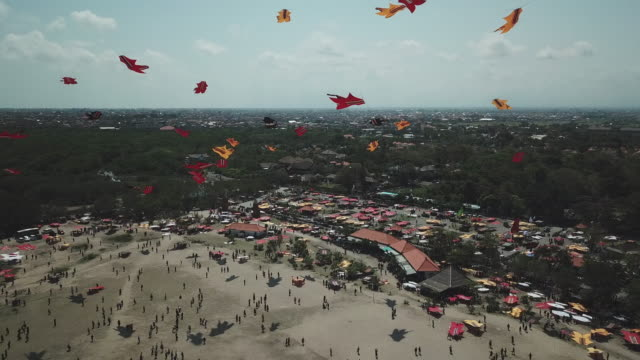 bali kite festival / bali, indonesia - bali stock videos & royalty-free footage
