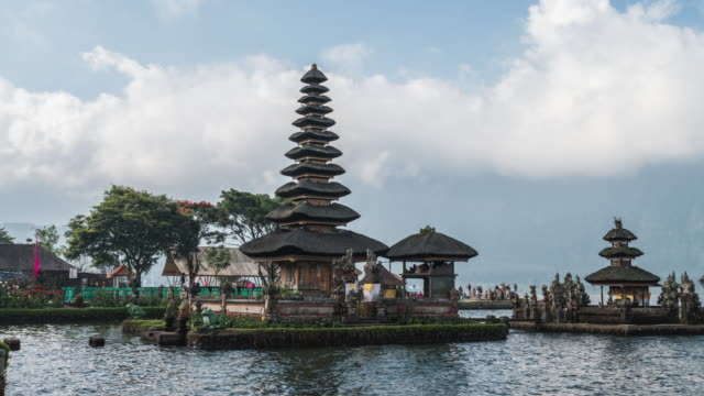 bali temple known as pura ulun danu bratan - pura ulu danau temple stock videos & royalty-free footage