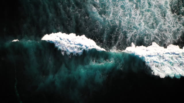 bali waves - overhead view stock videos & royalty-free footage