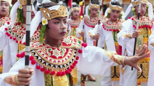 Ms Balinese Boys Dancing Typical Dance Audio Bali Indonesia Stock
