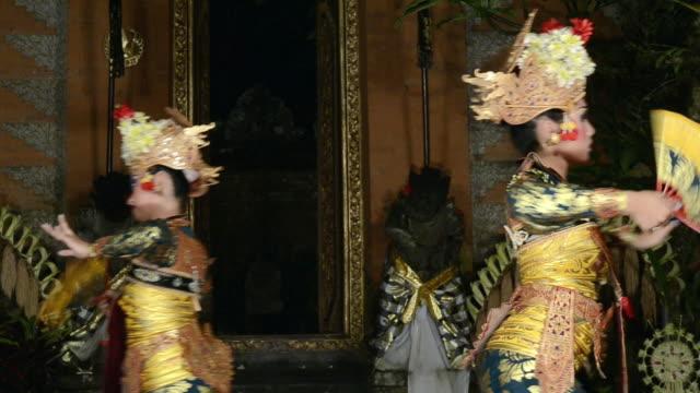 MS Balinese girl dancers performing Legong Dance AUDIO / Ubud, Bali, Indonesia