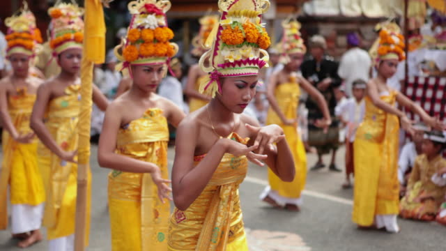 ms balinese girls dancing typical dance audio / bali, indonesia - bali stock videos & royalty-free footage