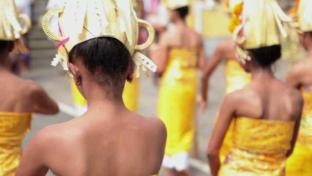 MS Balinese girls dancing typical dance AUDIO / Bali, Indonesia