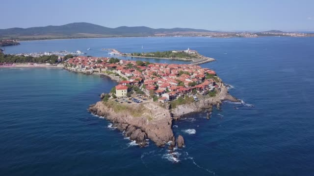 Balkan peninsula from above,4k drone video