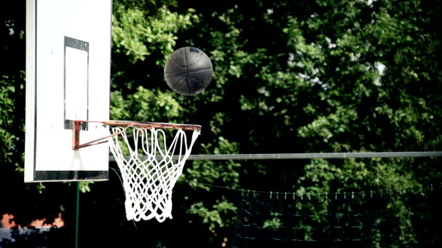 hd super slow-mo: ball falls through a hoop - basket stock videos & royalty-free footage