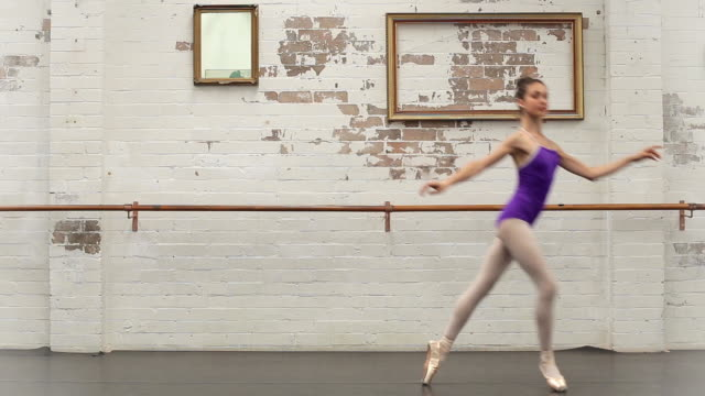 ballerina dances from left to right - leotard stock videos and b-roll footage