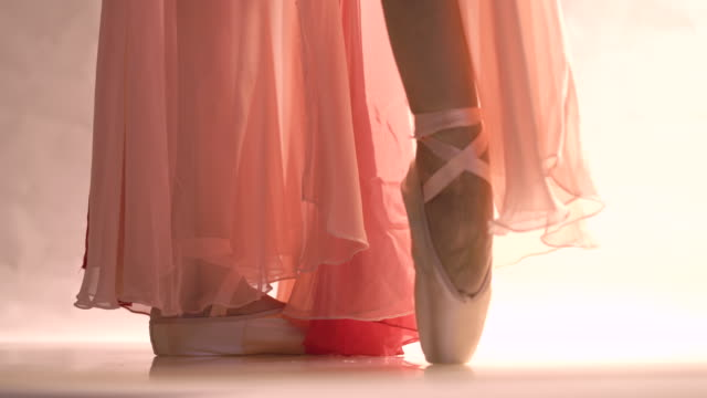 ballerina dancing, closeup on legs and shoes - ballet dancer stock videos & royalty-free footage