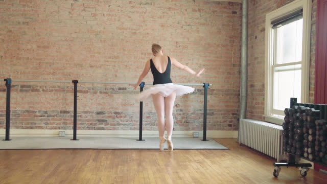 ballerina freeform dancing - ballet studio stock videos and b-roll footage