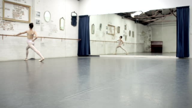 ballerina gets ready to dance - dance studio stock videos & royalty-free footage
