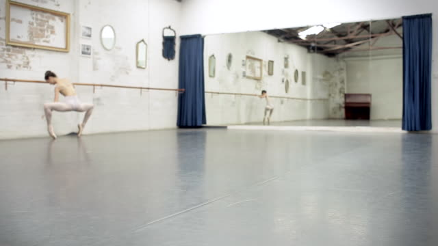 ballerina gets ready to dance - ballet studio stock videos and b-roll footage