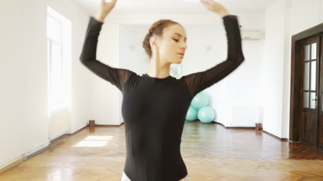 ballerina grace. - ballet studio stock videos and b-roll footage