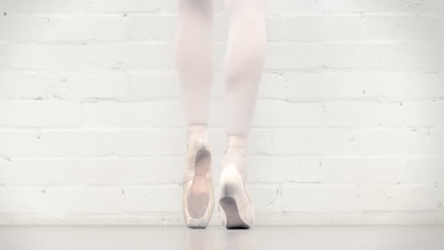 ballerina in the studio - ballet shoe stock videos and b-roll footage