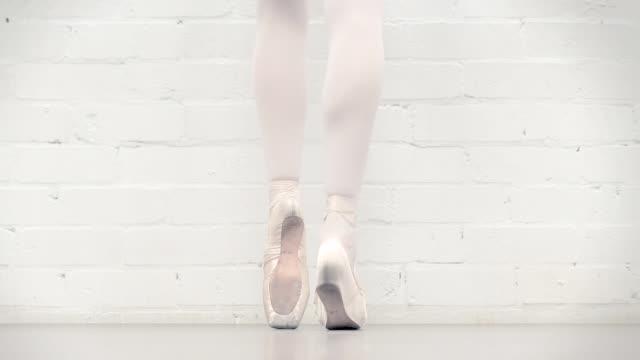 ballerina in the studio - ballet shoe stock videos & royalty-free footage