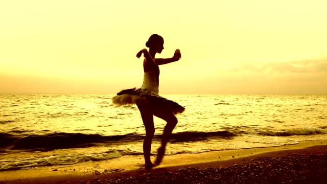 ballerina on the coast