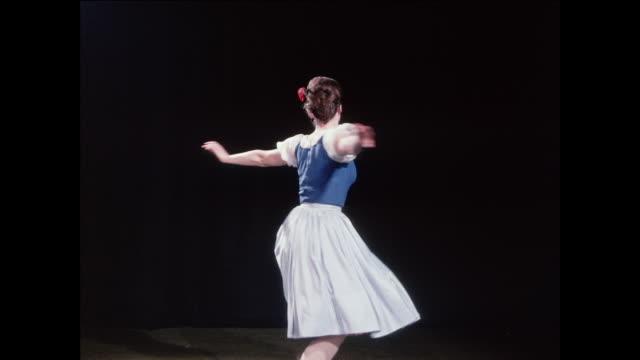 vidéos et rushes de ts ballerina performs tour jete movements / uk - danseur de ballet