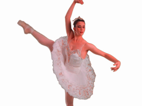 ballerina splitting and twirling - mpeg video format stock videos & royalty-free footage