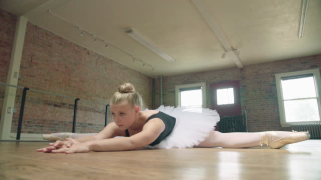 ballerina stretching - tights stock videos & royalty-free footage