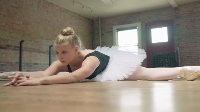 ballerina stretching - skirt stock videos & royalty-free footage