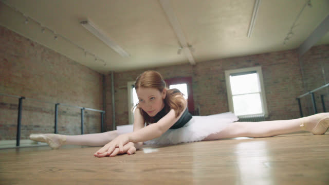 ballerina stretching - tutu stock videos and b-roll footage