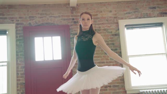 ballerina warming up - elastane video stock e b–roll