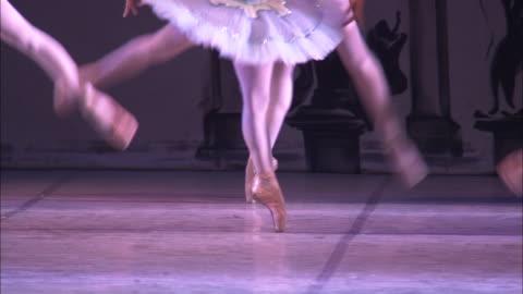 ballerinas dance in unison. - dance studio stock videos & royalty-free footage