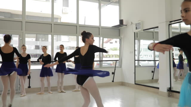 ballerinas doing ballet pirouette - ballet dancer stock videos & royalty-free footage