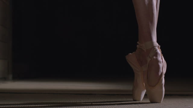 ballerina's feet with point shoes - ballet shoe stock videos and b-roll footage