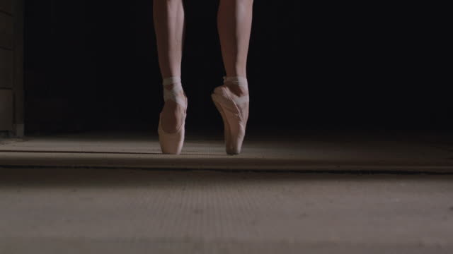 ballerina's feet with point shoes - ballet dancing stock videos and b-roll footage