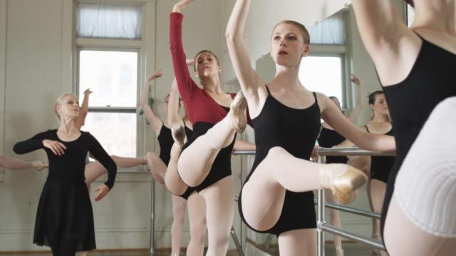 ballerinas in a dance studio - springville utah stock videos & royalty-free footage