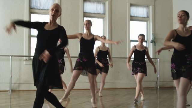 ballerinas in a dance studio - ballet dancer stock videos & royalty-free footage