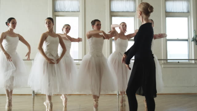 ballerinas in a dance studio - underwear stock videos & royalty-free footage