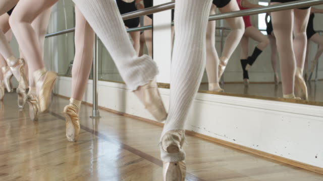ballerinas in a dance studio - tights stock videos and b-roll footage