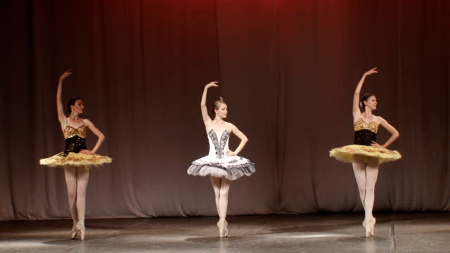 ballerinas on the stage - ballet dancer stock videos & royalty-free footage