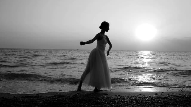 ballet at sunset on the coast