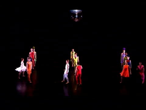 ballet based on einstein's theory of relativity; sequence members of rambert dance company performing dance based on einstein's theory of relativity... - e=mc2 stock-videos und b-roll-filmmaterial