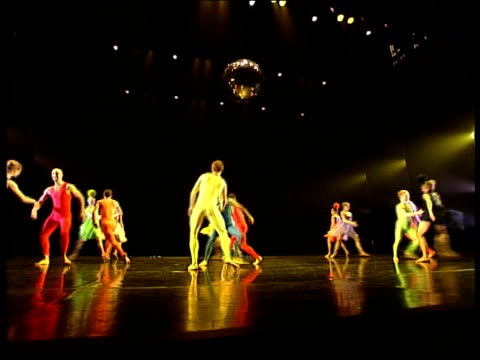 ballet based on einstein's theory of relativity sequence rambert dance company performing dance 'constant speed' to musical accompaniment - ballet dancing stock videos & royalty-free footage