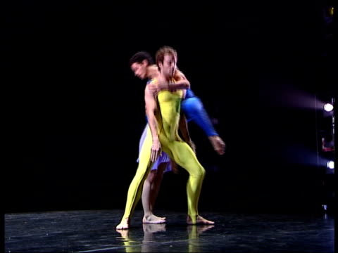 stockvideo's en b-roll-footage met ballet based on einstein's theory of relativity sequence rambert dance company performing dance 'constant speed' to musical accompaniment - e=mc2