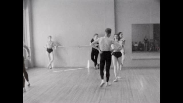 ballet class in hollywood in the 1950's - leotard stock videos & royalty-free footage