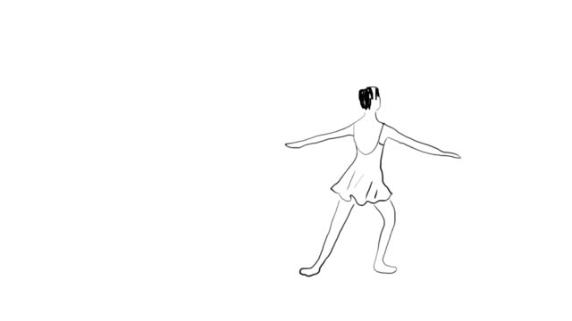 ballet dancer animation - tänzerin stock-videos und b-roll-filmmaterial