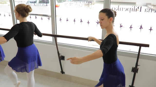 ballet dancers dancing in studio - small stock videos & royalty-free footage