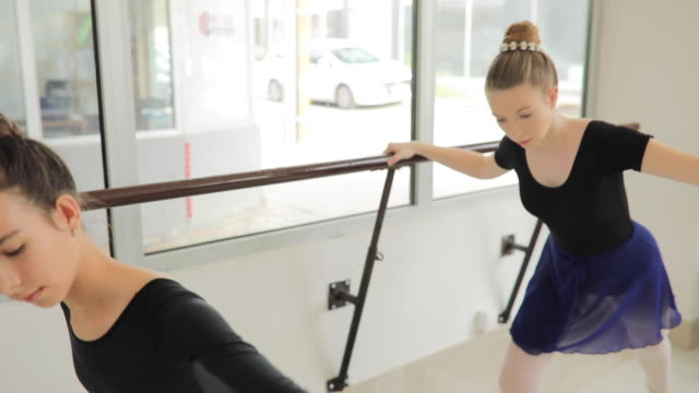 ballet dancers exercising in studio - small stock videos & royalty-free footage