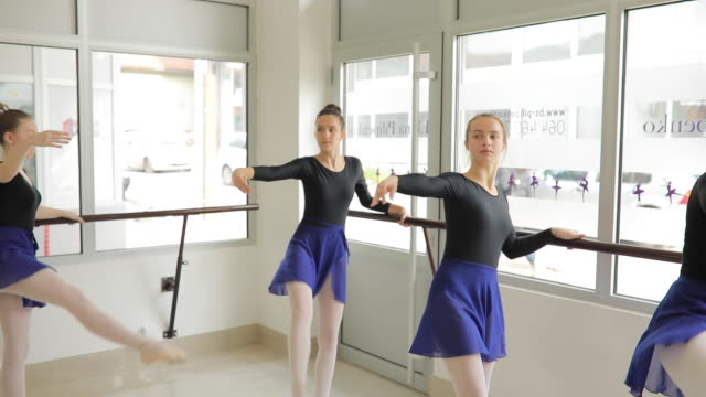 ballet dancers exercising together - small stock videos & royalty-free footage