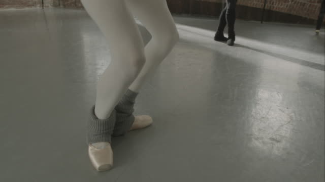 ballet dancers jumping in dance studio - tights stock videos & royalty-free footage