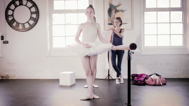 ballet dancers practicing at barre - barre stock videos & royalty-free footage