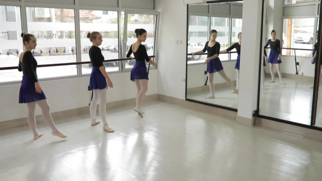 ballet dancers practicing - barre stock videos & royalty-free footage
