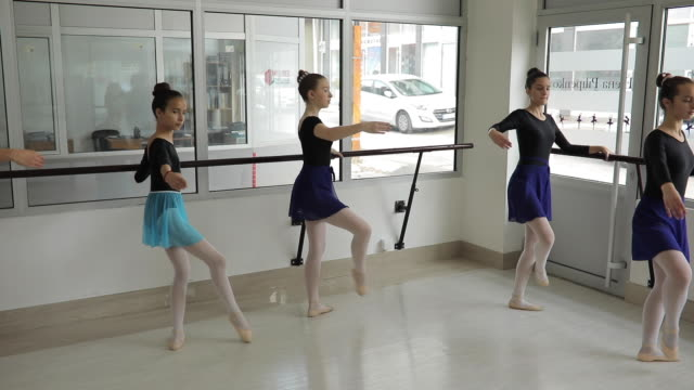 ballet dancers practicing - small stock videos & royalty-free footage
