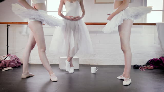 ballet dancers practicing - low section stock videos & royalty-free footage